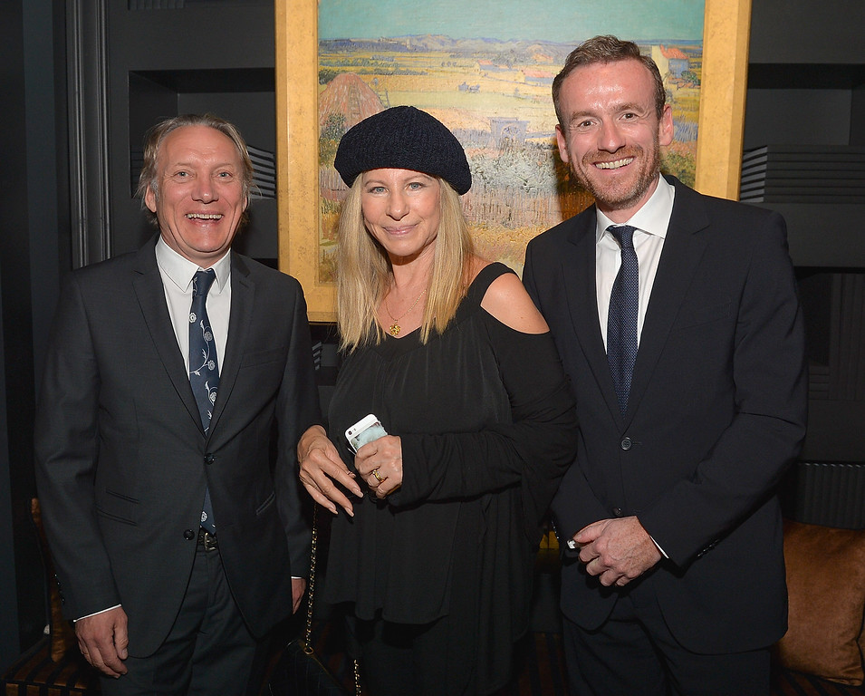 . (L-R) Willem van Gogh, Barbra Streisand and Director of the Van Gogh Museum Axel RŸger attends Van Gogh Museum Editions making it\'s U.S. debut at LA Art Show on January 15, 2014 in Los Angeles, California.  (Photo by Charley Gallay/Getty Images for Van Gogh Museum Editions)