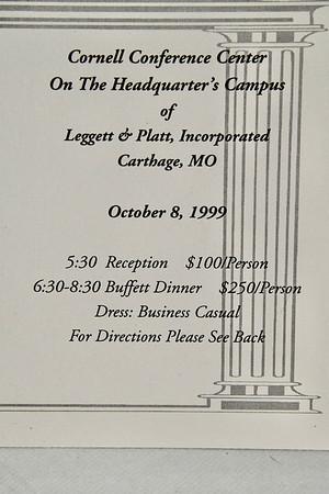 10-9-1999 Sen. John Ashcroft Fundraiser @ Leggett & Platt