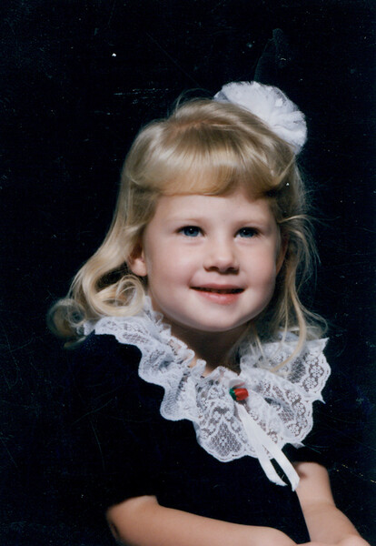 Nov 1991 - Andrea 3 years old