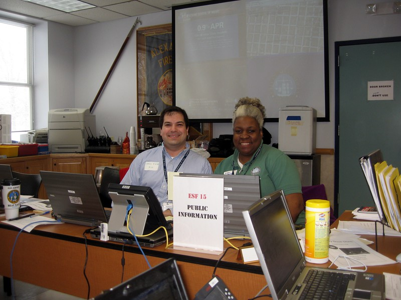 Craig and Andrea staff the PIO position