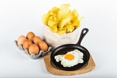 VALLUCAS con huevo frito
