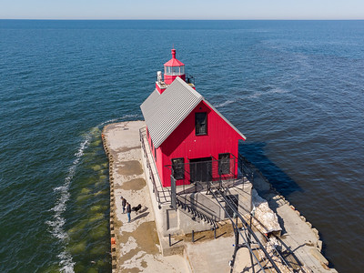 Grand Haven and Holland Michigan Lighthouses