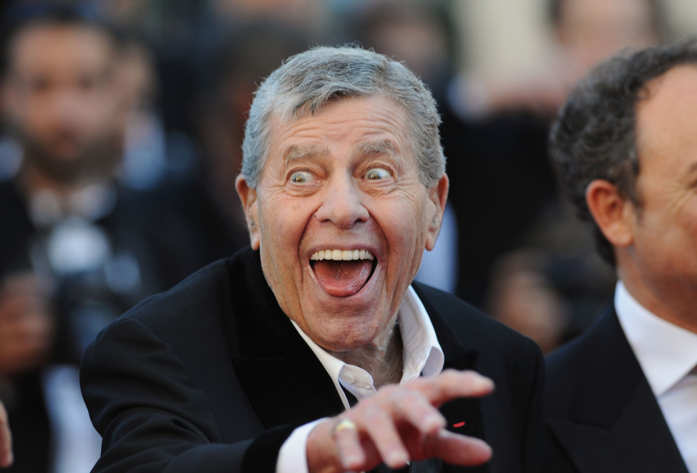 . Jerry Lewis attends the Jerry Lewis hommage and \'Max Rose\' Premiere at The 66th Annucal Cannes Film Festival at Palais des Festivals on May 23, 2013 in Cannes, France.  (Photo by Stuart C. Wilson/Getty Images)