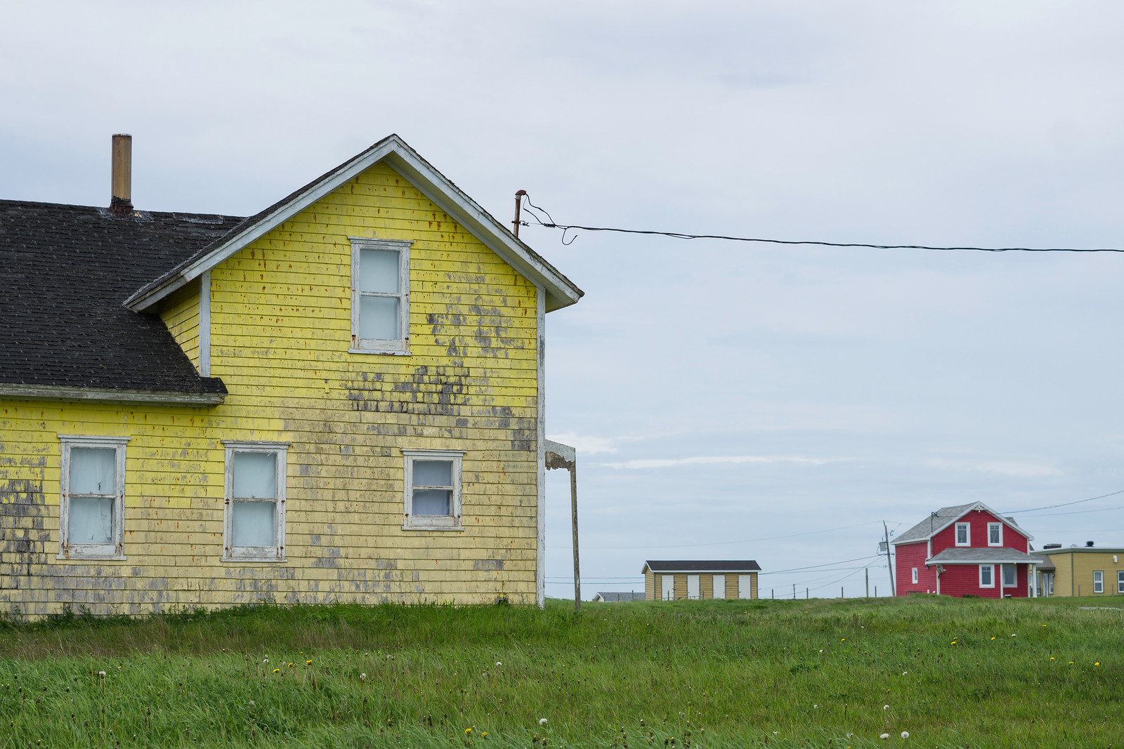 Some fisherman say they painted their homes in bright colours so they can see them while fishing. Whatever the reason, these are some of my favourites on Grosse-Île.
