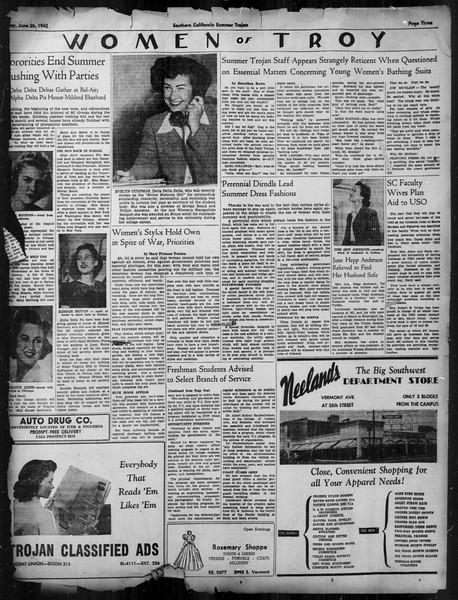 Summer Trojan, Vol. 33, No. 2, June 26, 1942