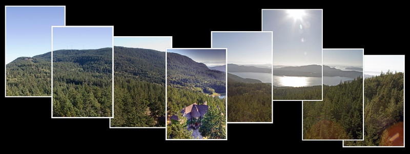 Chateau NightHawk Crane Panorama Collage