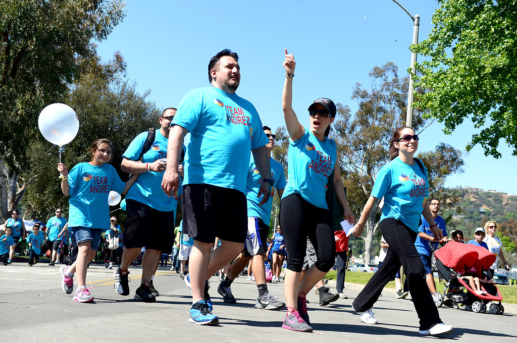 . The 11th annual Los Angeles Walk Now for Autism Speaks is held at the Rose Bowl in Pasadena Saturday April 20, 2013. (SGVN/Staff Photo by Sarah Reingewirtz)
