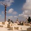 Brazen Serpent sculpture on top of Mount Nebo