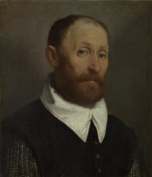 Portrait of a Man with Raised Eyebrows
