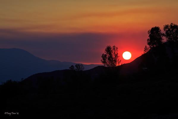Sunset, Wildomar 6/16/2012