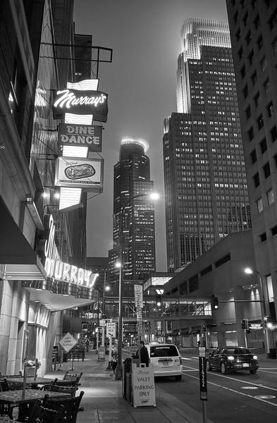 6th Street Minneapolis - black and white