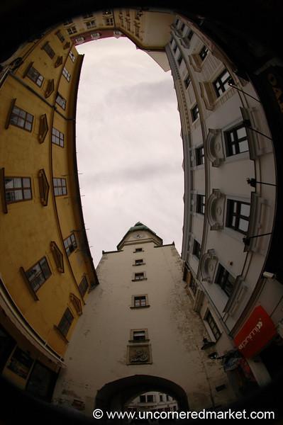 Bratislava's Old Town in Fisheye - Slovakia
