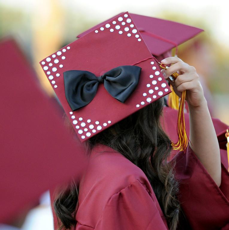 . The Bellflower High School 2013 graduation in Bellflower June 16. ( Photo by Sean Hiller/Press Telegram)