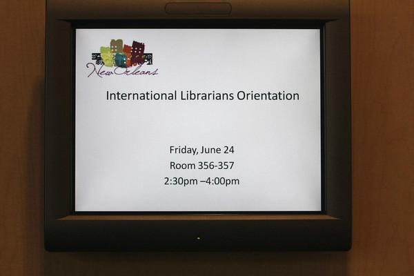 International Librarians Orientation