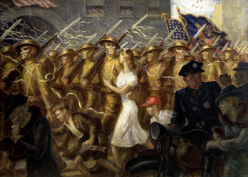 John Steuart Curry (American, 1897 - 1946), Parade to War, Allegory, 1938,.jpg