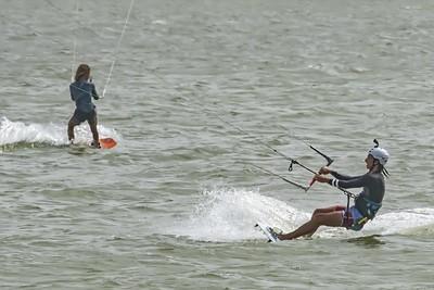 Texas City Dike:  Kiteboarding July 1, 2020