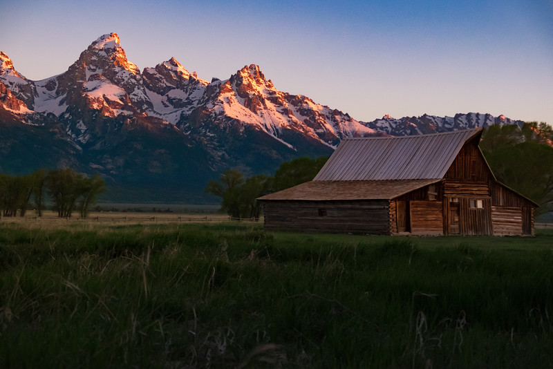 Sun Kissed Tetons (Moulton Barn)