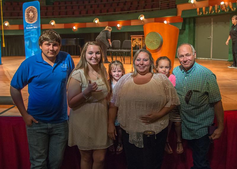 The LeStourgeon family pose for a photo.