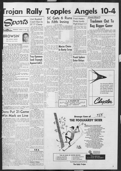 Daily Trojan, Vol. 46, No. 93, March 09, 1955
