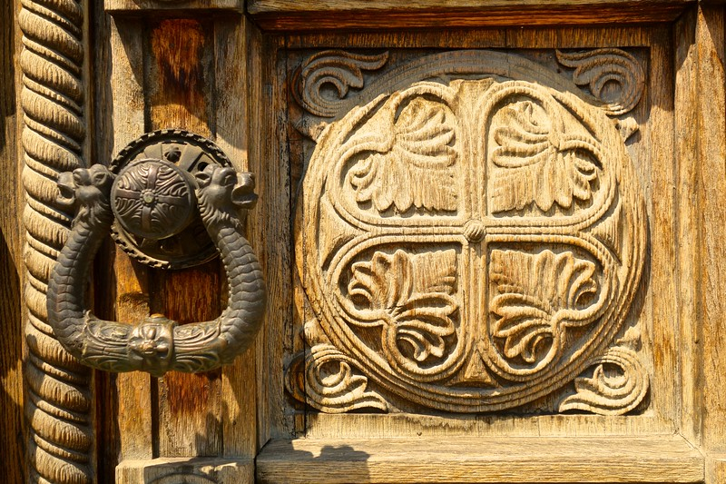 door detail, Alexander Nevski Cathedral in Sofia, Bulgaria