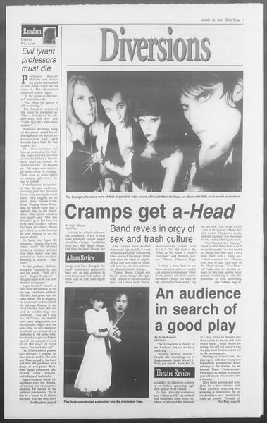 Daily Trojan, Vol. 117, No. 49, March 26, 1992