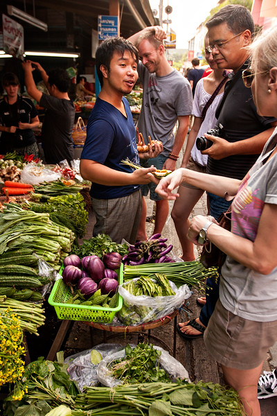A market visit with the Baan Thai Cookery School! Taking a cooking class here was really fun, informative, and delicious. I loved our teachers and our food, and hope to cook up some tasty Thai food at home after this!