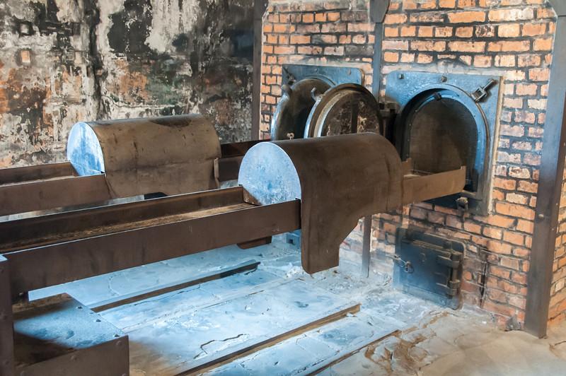 The crematorium in Auschwitz Birkenau in Krakow, Poland