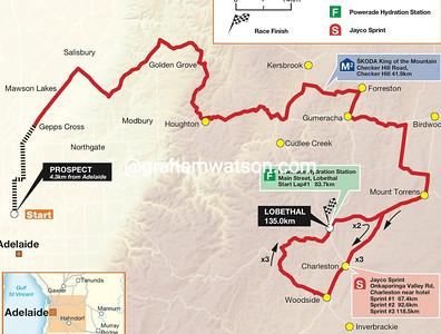 Stage 1 Prospect > Lobethal, 135kms