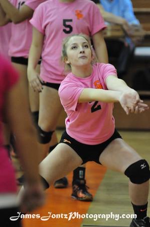 2015 Varsity Volleyball Senior Night 10-29