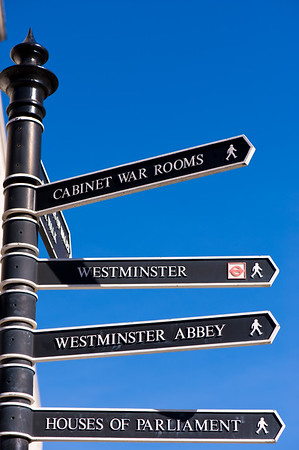 Road sign, London, United Kingdom