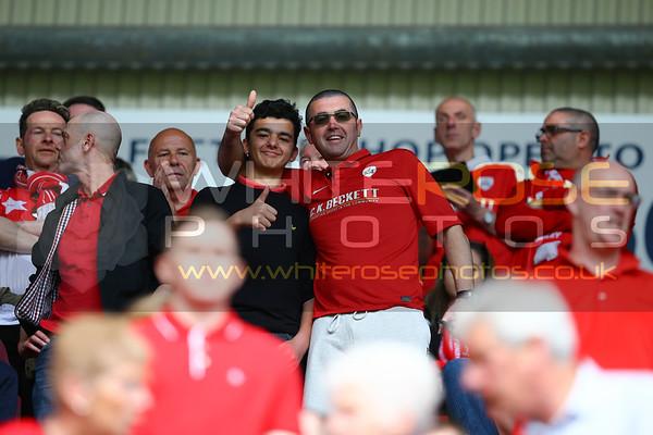 Crowd photos at Wigan v Barnsley