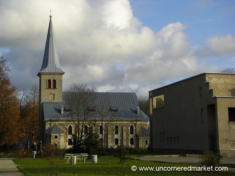 Tapa Church and Concrete Hall - Estonia