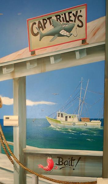 detail from 'Sunny Florida' mural in children's dental office