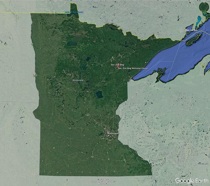 Sax-Zim Bog location map Minnesota Google Earth.png