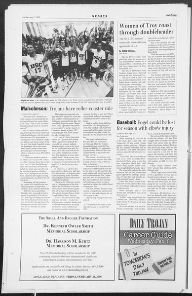 Daily Trojan, Vol. 157, No. 19, February 07, 2006