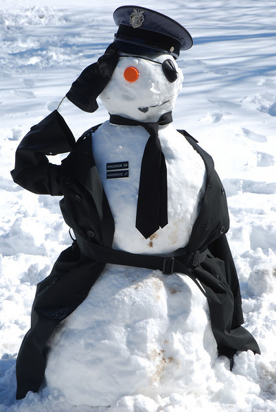 Salute to our Snowman