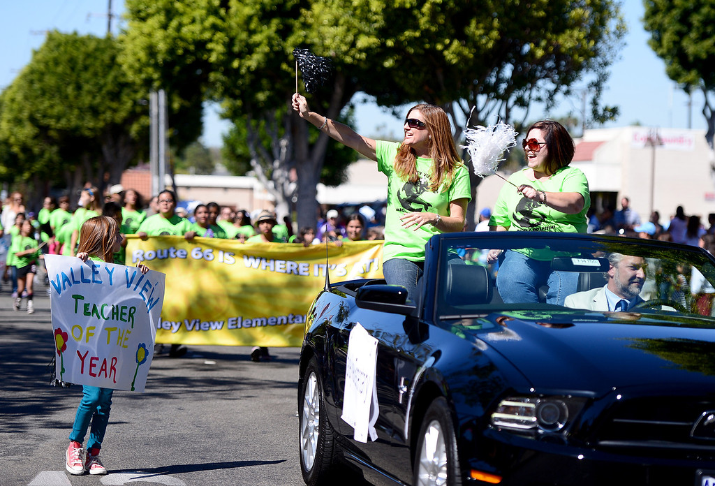 . City of Duarte hosts its annual Route 66 Parade along Huntington Drive, on Saturday, September 28, 2013. (Photo by Sarah Reingewirtz/Pasadena Star-News)