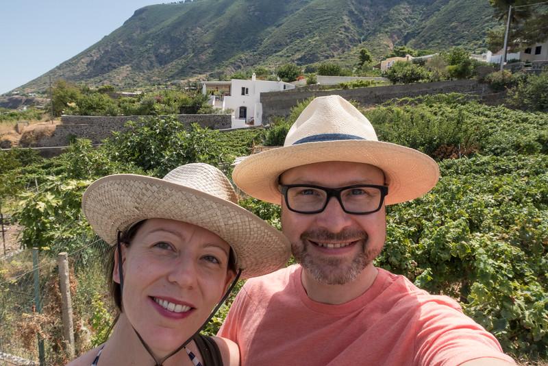 Selfie by the vines
