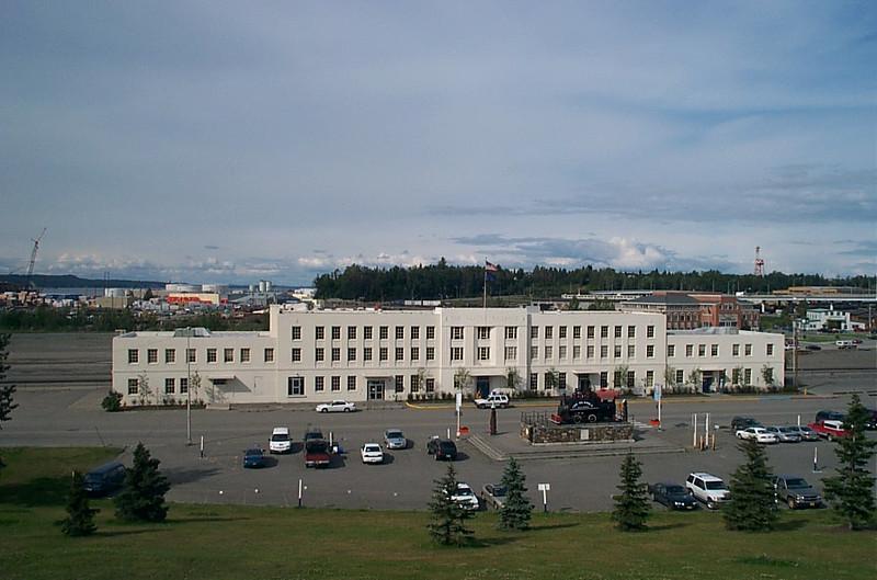 New and old Alaska Railroad Depot
