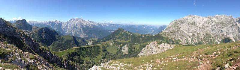 Watzmann & Jenner, Berchtesgaden (iPhone 5 with panorama function, no post processing)