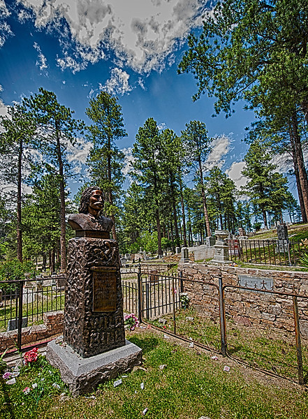 Wild Bill's grave,  Calamity Jane's grave is just to the right.