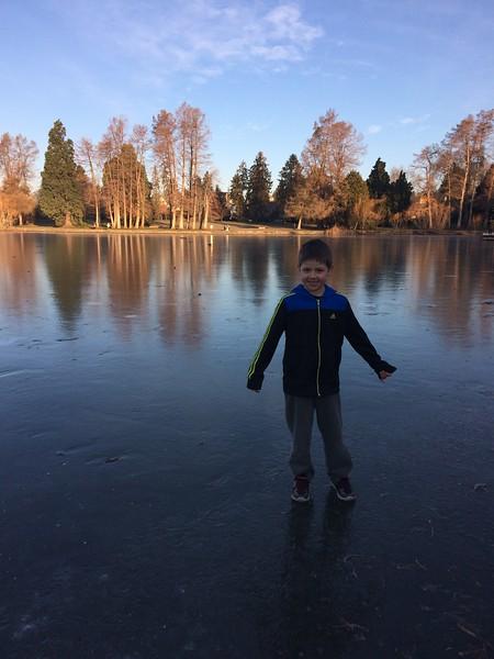 Greenlake froze!