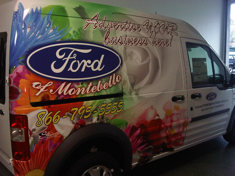 Vehicle Wrap for Ford of Montebello in Los Angeles, CA www.skinzwraps.com