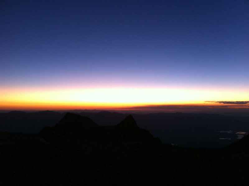 Taken with my iPhone.  Dawn from the LeConte Plateau.