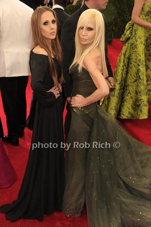 Allegra Versace and Donatella Versace photo by Rob Rich © 2014 robwayne1@aol.com 516-676-3939