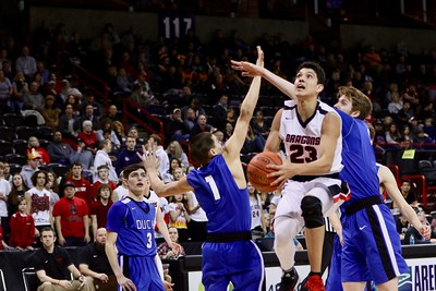 US Boys Basketball vs Toutle Lake at State 2B 2-28-19
