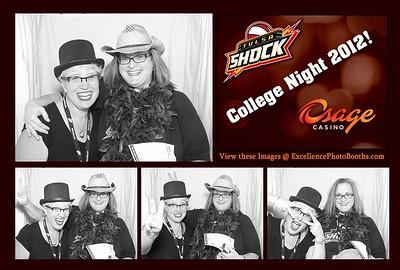 Tulsa Shock vs LA Spark College Night 2012