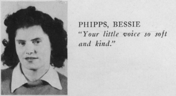 From Bessie's High School Yearbook