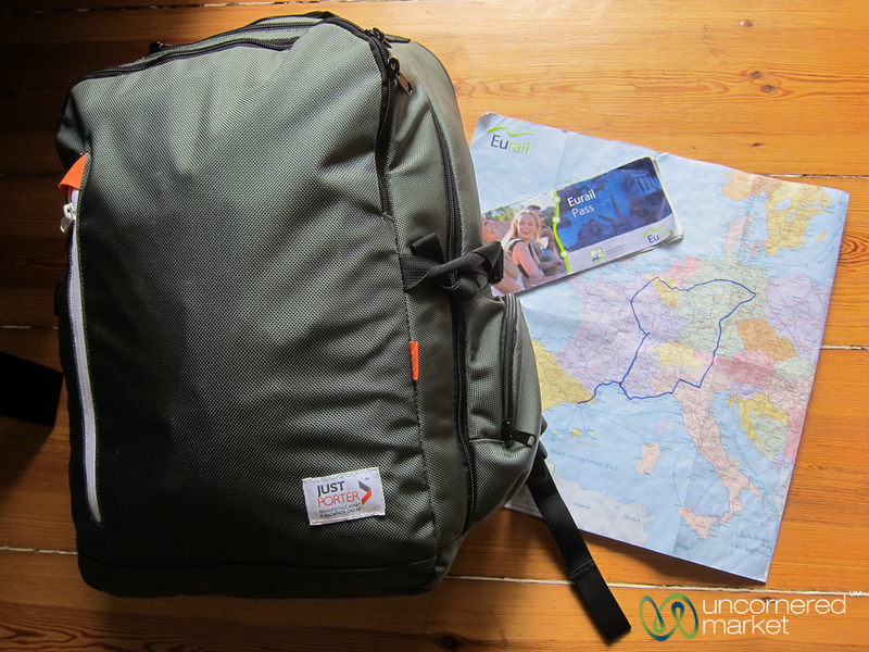 Around Europe for a week with my JustPorter Backpack and Eurail Pass