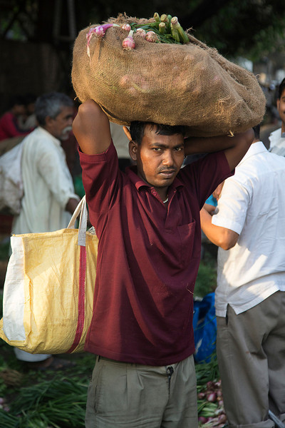 Man at vegetable market
